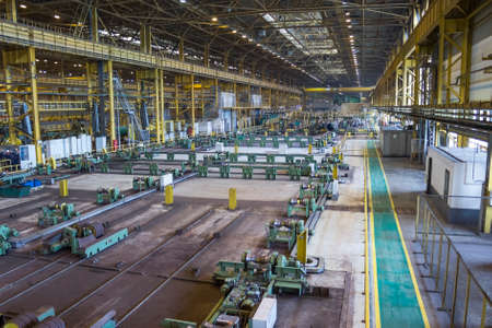 ferrous foundry: Large workshop of pipe rolling plant, metallurgy