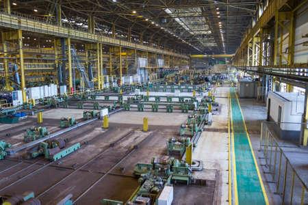 metallurgy: Large workshop of pipe rolling plant, metallurgy