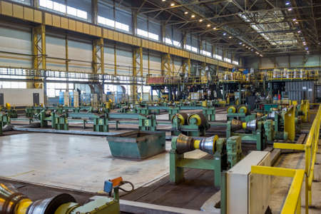 Workshop of metallurgy plant for pipeline checking