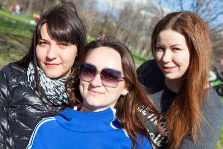 frendship: Three attractive women looking at camera Stock Photo