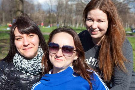frendship: Three pretty girlfriends together