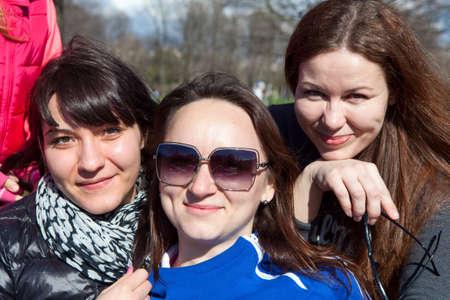 frendship: Three smiling Caucasian women