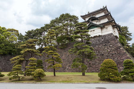 tokyo prefecture: The Fujimi-yagura three-story keep (tower) is in the wall of Imperial Palace. The Tokyo Imperial Palace is the main residence of the Emperor of Japan Editorial