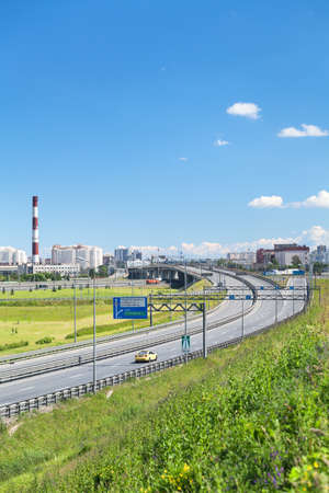 encircling: SAINT-PETERSBURG, RUSSIA - CIRCA JULY, 2014: The Saint-Petersburg city encircling highway. The federal public ringroad around the city