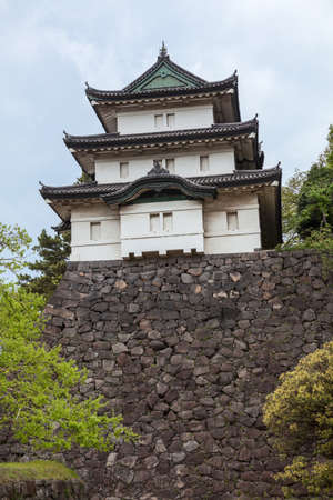 tokyo prefecture: The Fujimi-yagura three-story keep is in the inner yard of Imperial Palace. The Tokyo Imperial Palace is the main residence of the Emperor of Japan Editorial