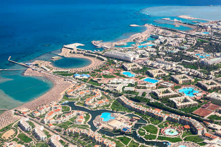 green city: The Red Sea coast with sandy beaches and resorts areas, Hurghada, Egypt