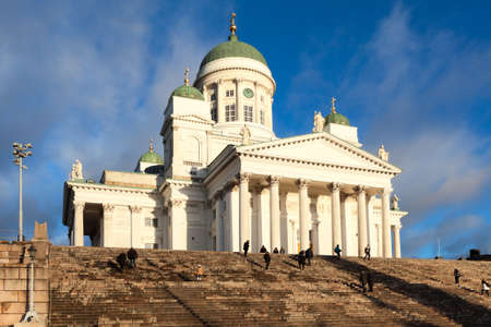 senate: HELSINKI, FINLAND - CIRCA, DEC, 2015: The Helsinki Cathedral is the Finnish Evangelical Lutheran church of the Diocese of Helsinki. Located on the Senate Square