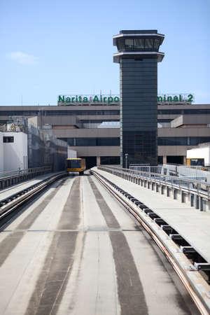 NARITA, JAPAN - CIRCA APR, 2013: The Narita Airport Terminal 2 Shuttle System. It was discontinued in September, 2013. Narita International Airport is the predominant airport. It is in Chiba Prefecture