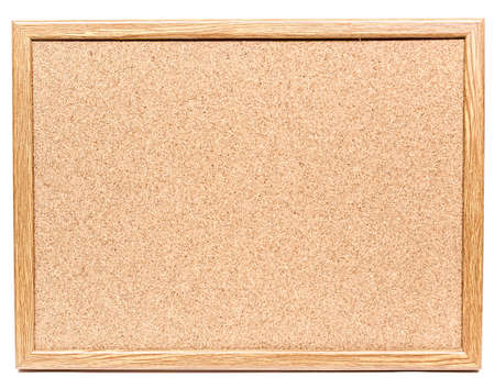 Cork noticeboard isolated on a white background