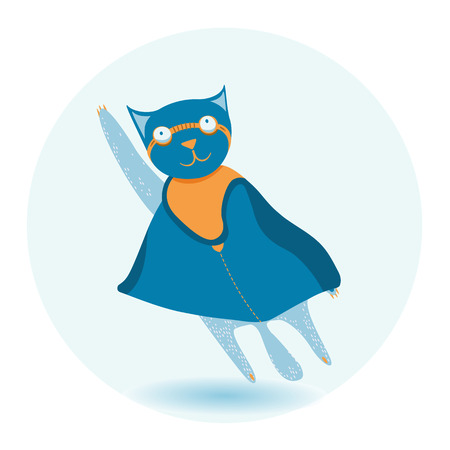 cat superhero Vector