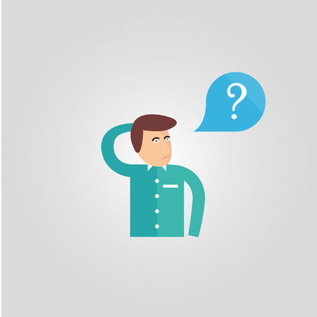 asking: vector graphics, modern flat illustration Illustration