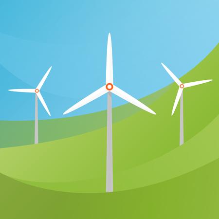 turbina: gráficos vectoriales, ilustración plana moderno, EPS 10