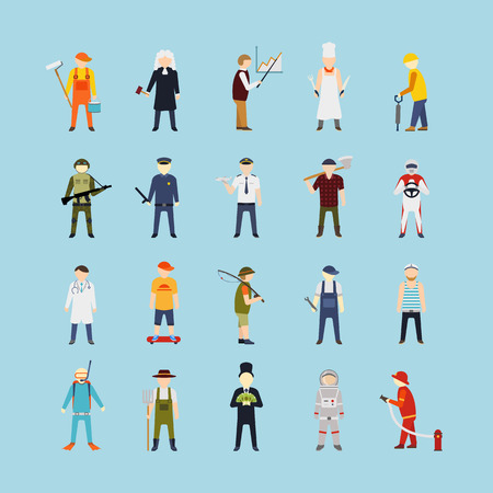 diferentes profesiones: La gente del vector de diferentes profesiones, gr�ficos vectoriales