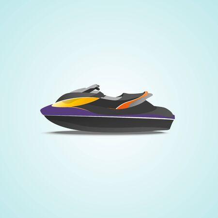 sea transport: vector graphics, modern flat illustration, eps 10