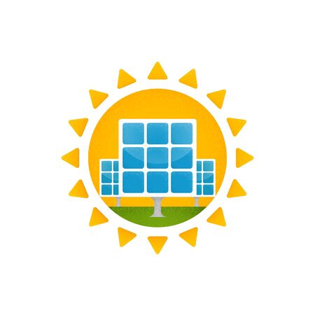 solar cells: vector graphics, modern flat illustration, eps 10