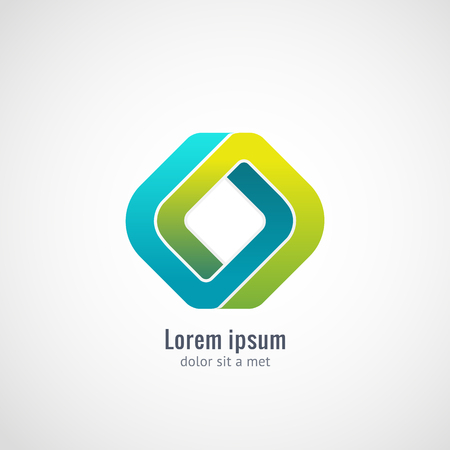 Corporate, Media, Technology, Ecology styles vector logo design template. Infinite looped shape. Vector graphics, eps 10