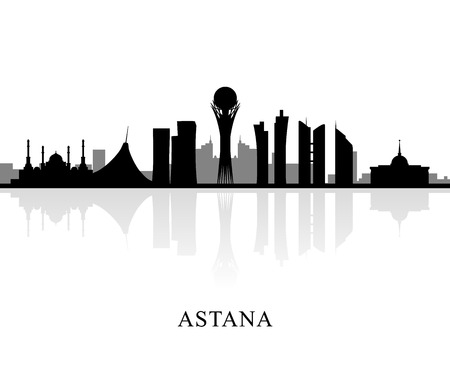 astana: Astana is the capital of Kazakhstan. EPS 10