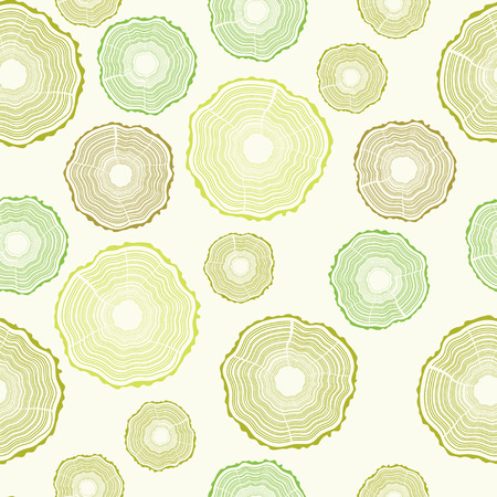 rings on a tree: Green seamless background, vector graphics, eps 10