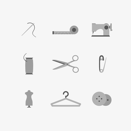 shoulder buttons: vector graphics, flat icons set, eps 10 Illustration