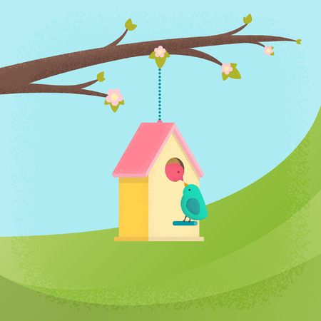 beautiful homes: vector graphics, modern colorful illustration, eps 10 Illustration