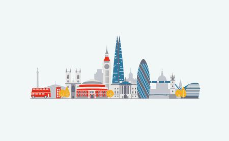 Los gráficos vectoriales, ilustración plana de la ciudad, eps 10