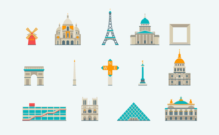 paris: Vector graphics, flat city illustration, eps 10