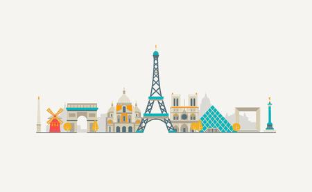 Los gráficos vectoriales, ilustración plana de la ciudad, eps 10 Foto de archivo - 49879506