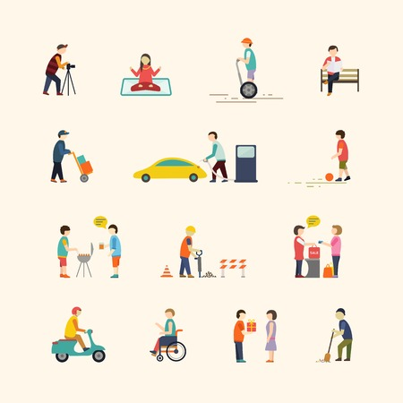 urban people: A set of urban people, Vector illustrations Illustration