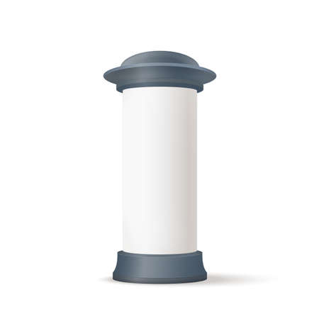 column: Isolated photo realistic illustration on white background. Vector graphics Illustration