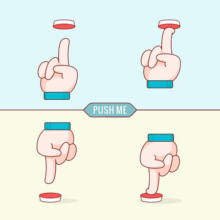 join here: Flat design thin line style illustration, vector graphics, eps 10