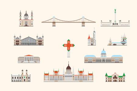 Vector graphics, flat city illustration, eps 10 Stock fotó - 49879679