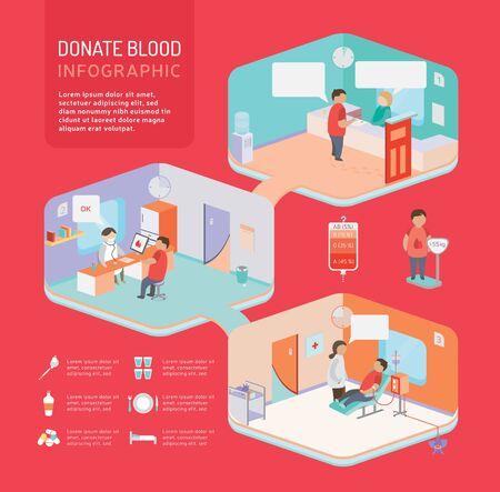 blood: 3d isometric design vector illustration, eps 10 Illustration