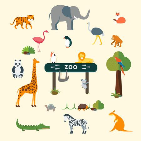 animales silvestres: gráficos vectoriales, ilustración plana moderno, EPS 10