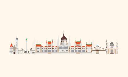 magyar: Vector graphics, flat city illustration, eps 10