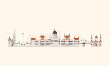 Vector graphics, platte stad illustratie, eps 10 Stock Illustratie