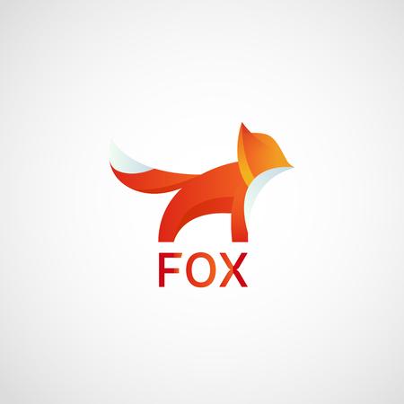 nature vector: Fox logo design template, vector graphic, eps 10 Illustration