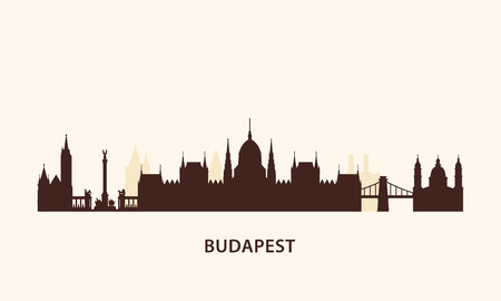 hungarian: Vector graphics, flat city illustration, eps 10
