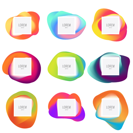 Abstract vector frames, colorful shapes for your design, eps 10