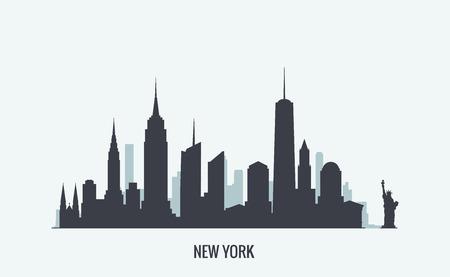 silueta: Los gr�ficos vectoriales, ilustraci�n plana de la ciudad, eps 10 Vectores