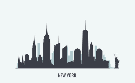 silhouette america: Vector graphics, flat city illustration, eps 10