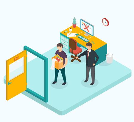 job opportunity: 3d isometric design vector illustration, eps 10 Illustration