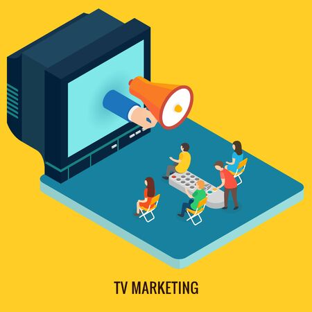 tv: 3d isometric design vector illustration, eps 10 Illustration