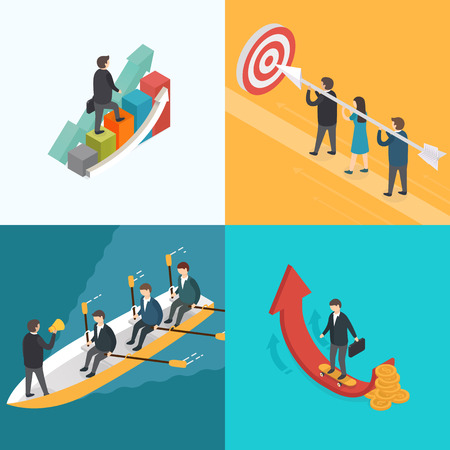 team leader: 3d isometric design vector illustration, eps 10 Illustration