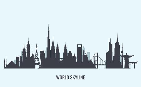 Vector graphics, flat city illustration, eps 10