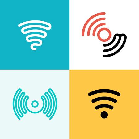 logo ordinateur: graphiques vectoriels, des icônes plats modernes, eps 10