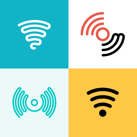 wireless communication: vector graphics, modern flat icons, eps 10