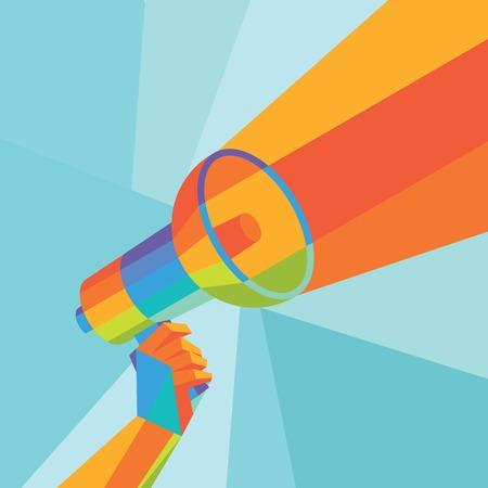 sound speaker: vector graphics, modern triangle illustrations, eps 10