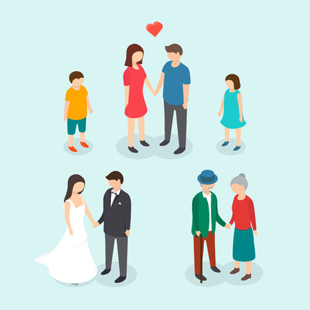 father of the bride: 3d isometric design