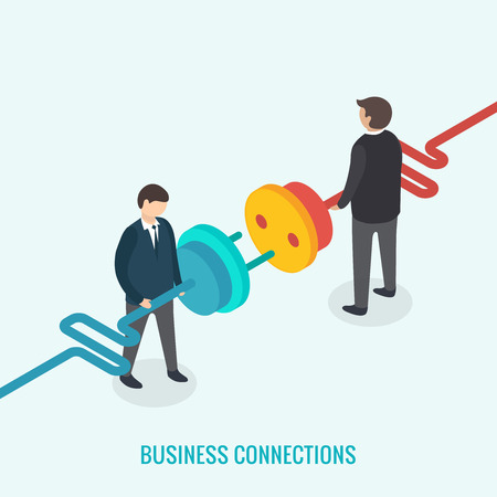 business connection: 3d isometric design