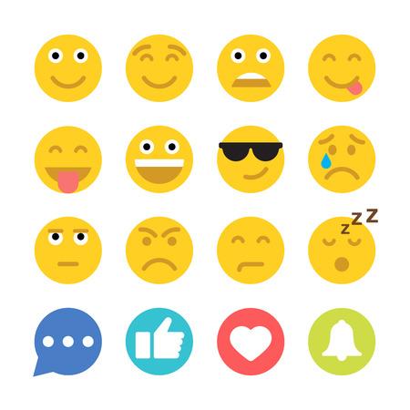 emociones: gráficos vectoriales, icono plana moderna